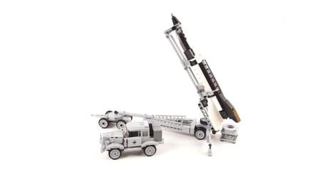 搭建积木玩具二战德国V2火箭