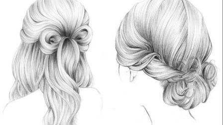 【手绘教程】头发のN种画法,2分钟教你画出各种麻花辫发饰