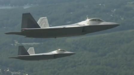 F-22隐形战机侧弹仓打开发射AIM-9空空导弹,最强空中战机