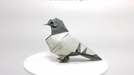 【搬运折纸】NO_120_ 鸽子 设计者:Román Díaz   视频录制者:MarianoZavalaOrigami
