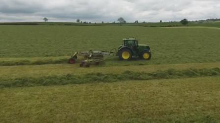 这剪草机真大,机械化收割牧草发酵制作青储食料