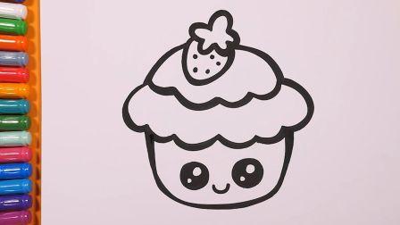 【简笔画】点心时间到!画出又美又萌又可口的幻彩寿司、蛋糕、吐司吧!