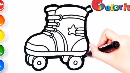 【简笔画】你会滑轮滑吗?送一只轮滑鞋,不过另外一只需要你来画