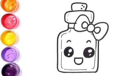 【简笔画】快来许愿吧——简笔画彩虹流星、漂流瓶和生日蛋糕|儿童绘画涂色