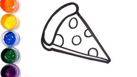 【简笔画】小厨师快乐学烘焙 简笔画披萨、烤箱、烘焙手套 儿童艺术启蒙教程