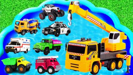 挖掘机,拖拉机,消防车,垃圾车,警车,沙滩车19