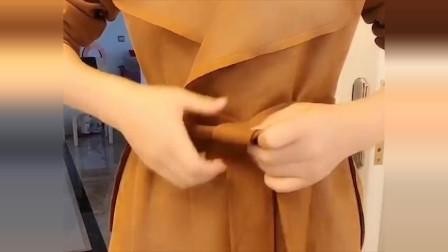 腰带系蝴蝶结已经过时了,超有气质的玫瑰结,高端上档次!