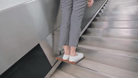 给普通楼梯加个小电梯,让老人轻松上下楼,太适合老旧小区改造
