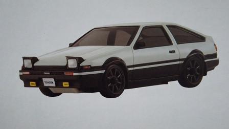 这台丰田AE86也是抢手货,价格只要199元,买来开开别有一番乐趣-主试角