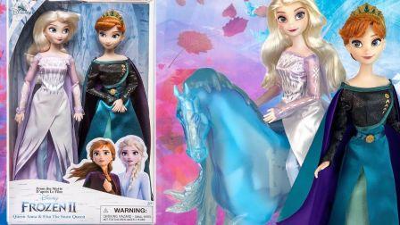 【开箱】34.99美元迪士尼《冰雪奇缘2》 Anna & Elsa 雪之女王经典娃娃套装~【搬运 1080p】