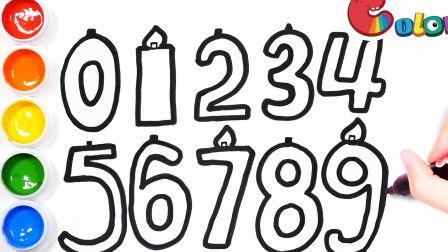 【简笔画】脑洞大开,画一组数字生日蜡烛——送你最美的祝福