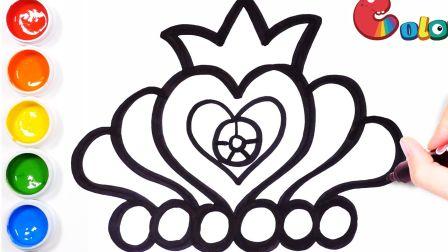 【简笔画】教你画1顶皇冠,带你去童话世界——还有南瓜马车和水晶鞋哦!