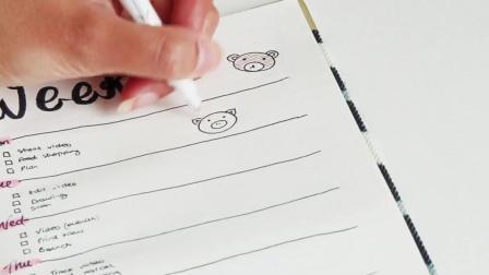 【搬运|手绘|简笔画】画了10只小动物装饰手帐