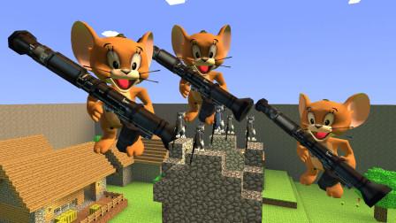 GMOD游戏巨型杰瑞鼠能把汤姆猫的城堡轰倒吗?