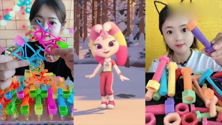 小姐姐吃播:彩色创意巧克力糖、玩具糖果,好看又好吃,真不错