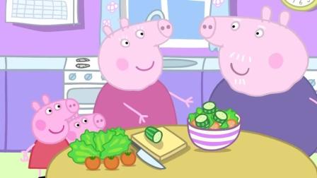 小猪佩奇:猪爷爷的菜园里没有乔治喜欢的,他喜欢吃巧克力蛋糕