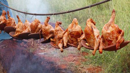印度小伙发明烤鸡新吃法,看完制作过程,太搞笑了!