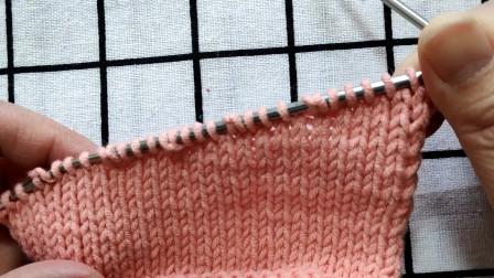 漂亮的左边隐退针编织方法,没有洞眼,织物漂亮,适合编织毛衣下摆和毛衣左肩部分编织