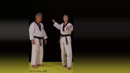 跆拳道品势太极二章,详细教学
