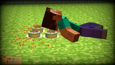 GMOD游戏史蒂夫睡在有蚂蚁的蛋糕上不怕被咬吗?