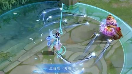 王者荣耀:嫦娥节限定【如梦令】特效展示,大招丢出一群小喜鹊