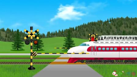成长益智玩具,陶气的小猫咪在火车行驶过程中,跑到火车头上面!