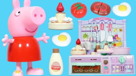 小猪佩奇做蛋糕的场景故事