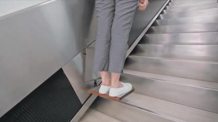 普通楼梯上加个小电梯,老人也能轻松上下楼,太适合老旧小区改造