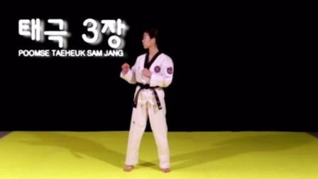 跆拳道品势太极三章,详细教学