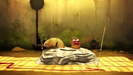 爆笑虫子两只虫子太渴了结果以为是水呢喝完才发现是辣椒酱