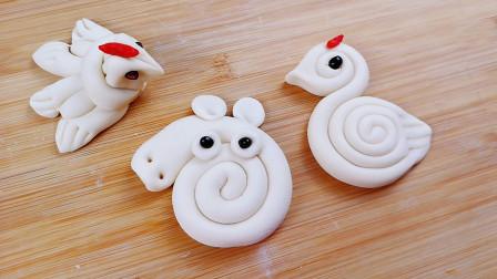 小动物面点,3种创意做法,个个简单又有趣