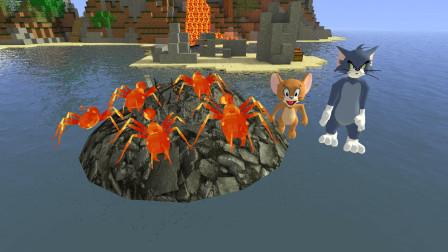 GMOD游戏汤姆猫把岩浆蚂蚁放到水里会变成黑曜石蚂蚁吗?