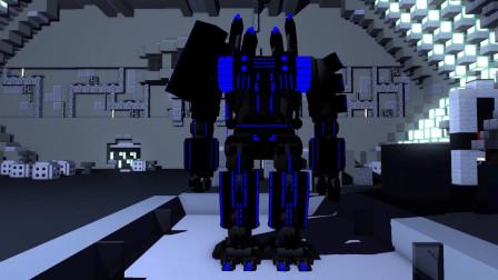 我的世界动画-怪物学院-巨型机器人挑战-Clash Apolon