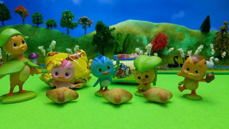 萌鸡小队拆封玩具奇趣蛋