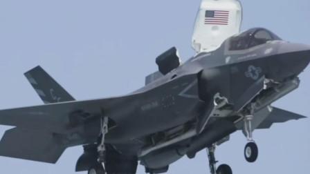 工程师对F-35B进行检测,F-35B隐形战机具备垂直起降能力