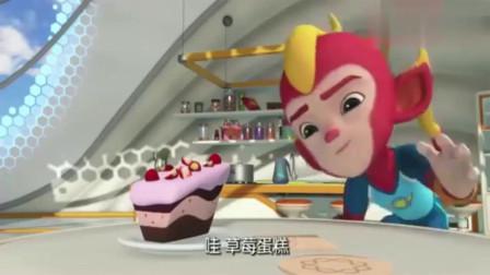 宇宙护卫队:彩虹做的蛋糕被风暴吃掉了,还误会是闪电吃的!