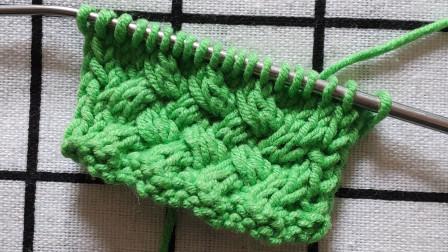 漂亮的芦席花纹编织教程来了,花纹平整,编织简单,适合编织厚实保暖的毛衣