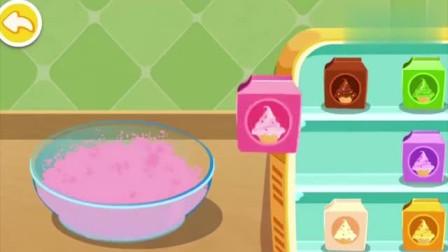 宝宝巴士游戏:小猴子来到妙妙的甜品店,想要吃抹茶冰淇淋