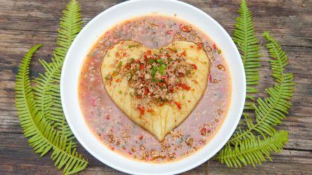 農村小伙做個土豆泥都是愛你的形狀,舔盤子才是正確吃法