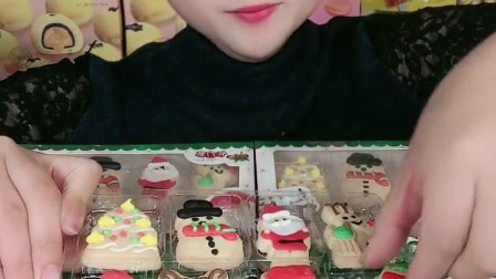萌姐试吃:圣诞小饼干,好可爱的饼干呀!