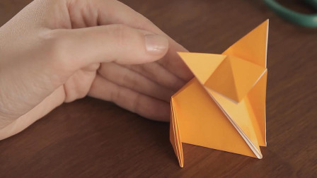 简单幼儿折纸教程,教你折纸一只可爱的小狐狸,看一遍就学会!