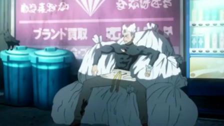 一拳超人:饿狼被琦玉老师一巴掌拍晕扔进了垃圾堆,琦玉老师猛男