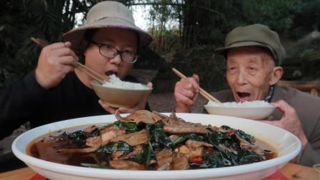 四川名菜:血皮菜炒猪肝教程来了,猪肝嫩而不腥,滑嫩爽口,下饭