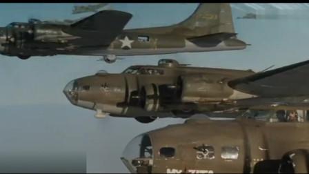 这才是火力压制,轰炸机搭载重型机枪,疯狂扫射血战德军战斗机