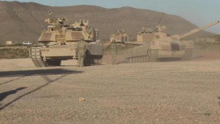 这就是世界最强坦克,美军M1A2主战坦克战斗全重63吨使用贫铀穿甲弹