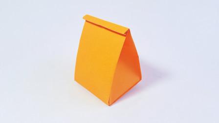 教你折纸纸袋子,简单实用