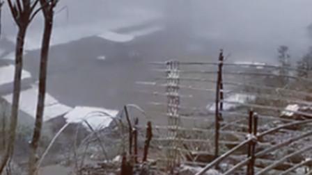 重庆万州多地下雪 居民纷纷晒出实拍画面