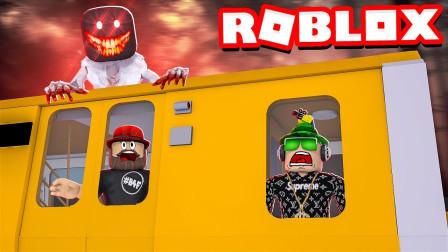 小飞象解说✘Roblox火车故事模拟器 踏上火车之旅,突然停电凶手冲了出来!乐高小游戏