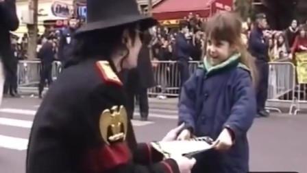 温柔善良的MJ与小粉丝的互动太可爱了!