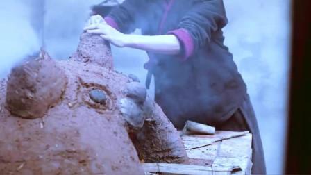 李子柒:挖土泥砌砖,手工垒了一座卡通版的面包窑